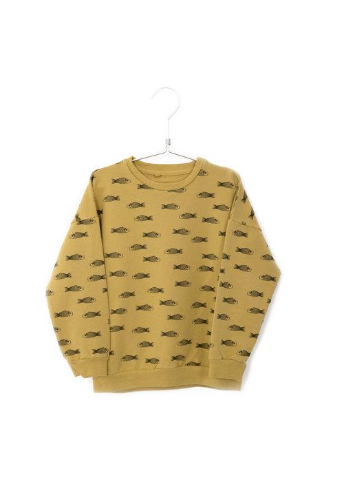 Lötiekids Lötiekids Sweatshirt Fishes Sun Yellow