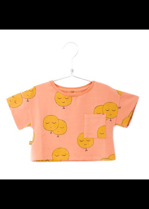 Lötiekids Lötiekids Crop Short Sleeve Sweatshirt Moons Salmon