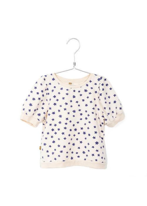 Lötiekids Lötiekids Short Puff Sleeve Sweatshirt Flowers Off White