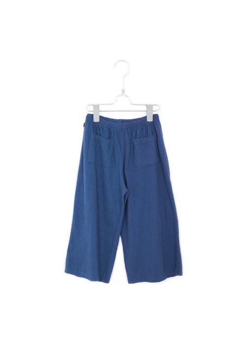 Lötiekids Lötiekids Loose Culotte Pants Solid Indigo Blue