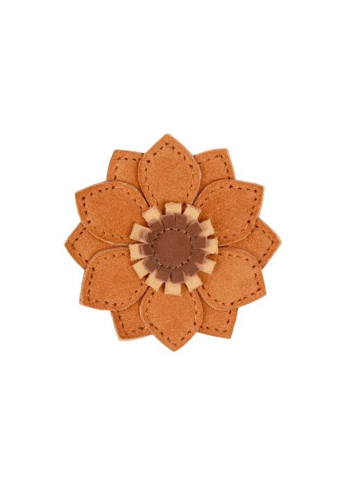 Donsje Donsje Zaza Fields Hairclip Sunflower Caramel Nubuck