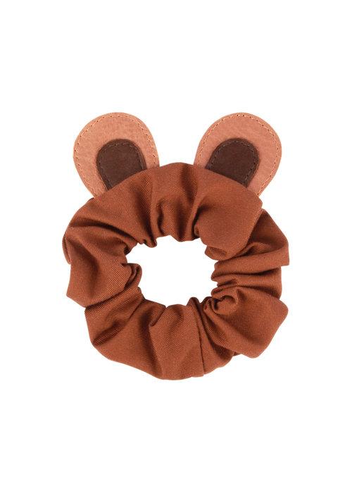 Donsje Donsje Polly Hairscrunchie Bear Cognac Classic Leather