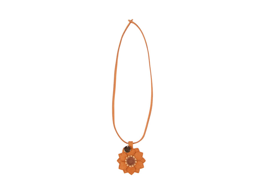 Donsje Zaza Necklace Sunflower Caramel Nubuck