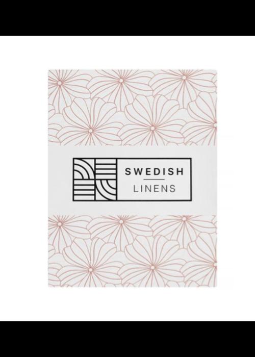Swedish Linens Swedish Linens FLOWERS White Fitted Crib Sheet 60x120cm