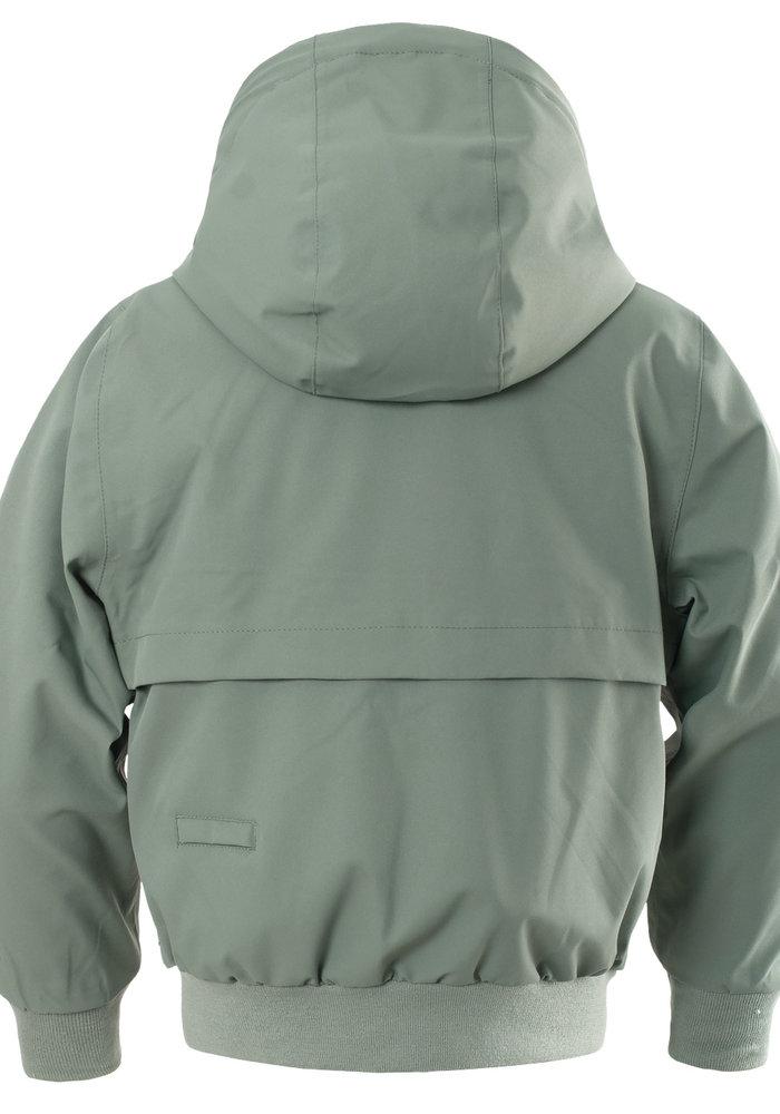 Gosoaky Unisex Lined Short Jacket Blue Bird Sea Grass