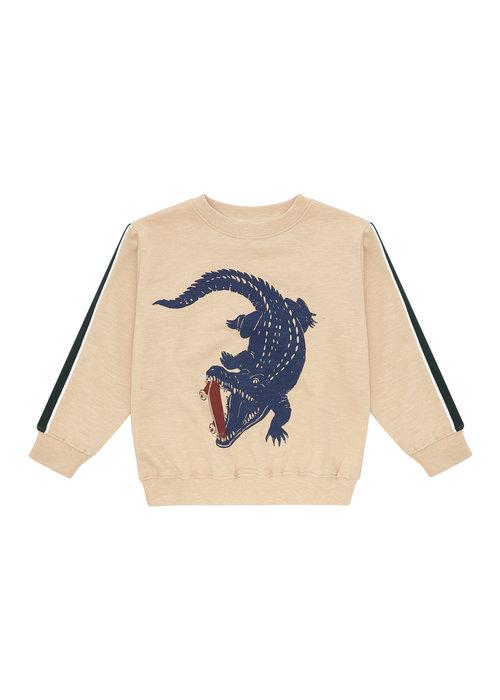 Soft Gallery Soft Gallery Baptiste Sweatshirt Beige Crocoskate