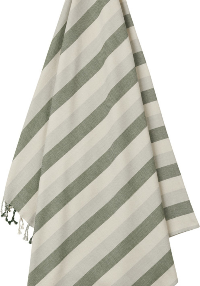Liewood Mona Beach Towel Garden Green/Sandy/Dove Blue