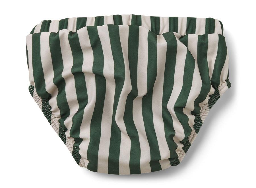 Liewood Frej Baby Boy Swim Pants Stripe Garden Green/Sandy