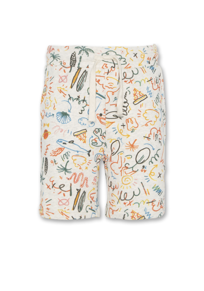 AO76 Sweater Shorts AOP Oyster