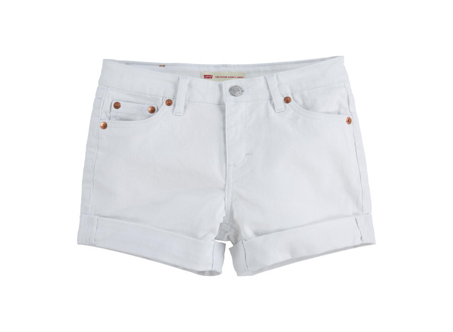 Levi's Denim Shorty Shorts White