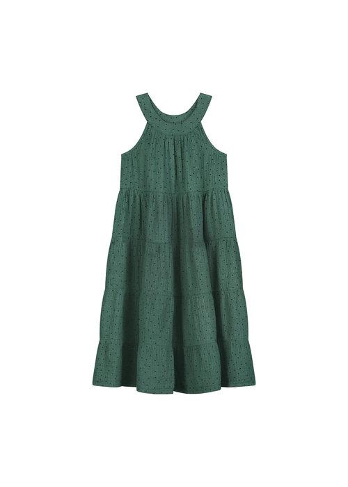 Daily Brat Daily Brat Dolly Polka Dress Juniper Green