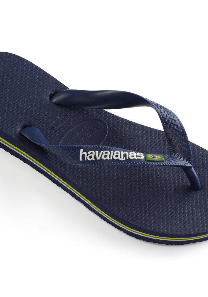 Havaianas Brasil Logo Navy Blue