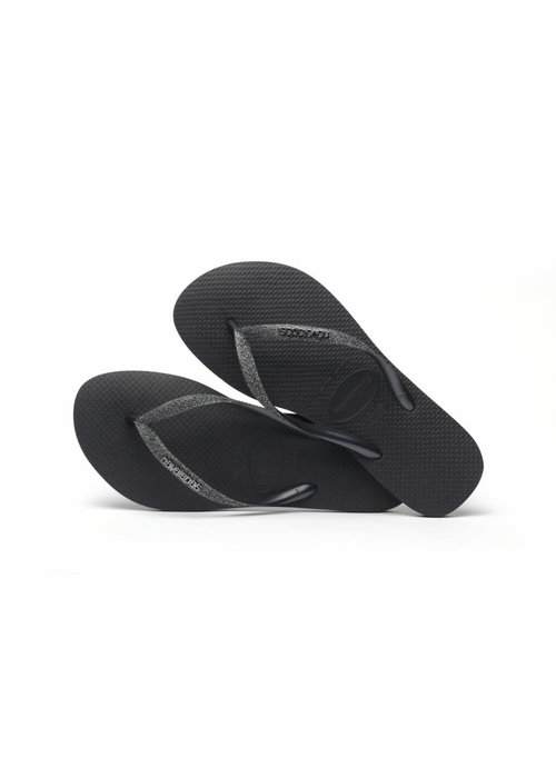 Havaianas Havaianas Slim Glitter II Black/Dark Grey Metallic