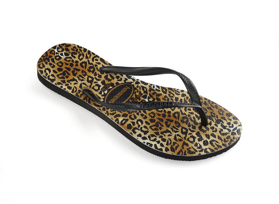 Havaianas Slim Leopard Black