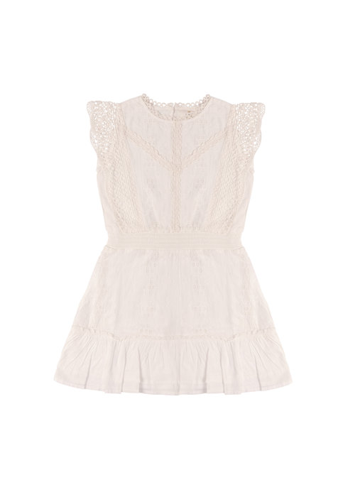 The New The New Takala Embroidery Dress Cloud Dancer