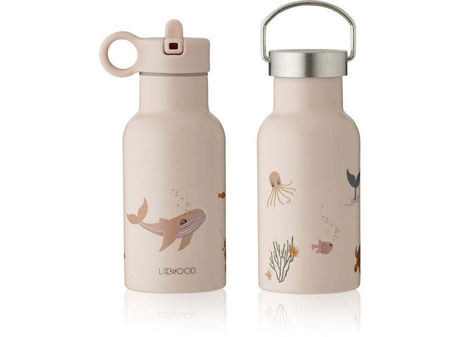 Liewood Anker Water Bottle Sea Creatures Rose Mix