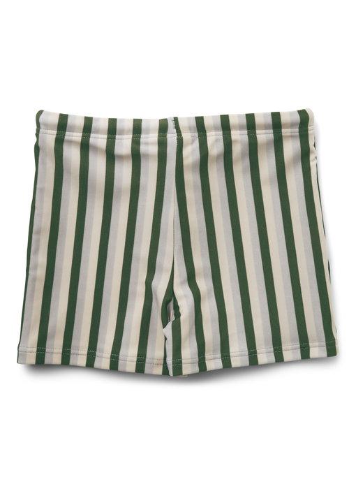 Liewood Liewood Otto Swim Pants Stripe Garden Green/Sandy/Dove Blue