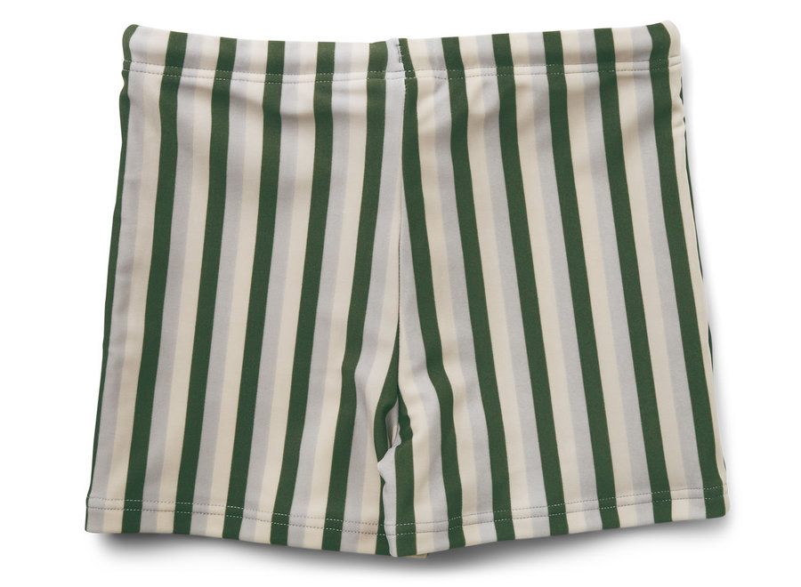 Liewood Otto Swim Pants Stripe Garden Green/Sandy/Dove Blue