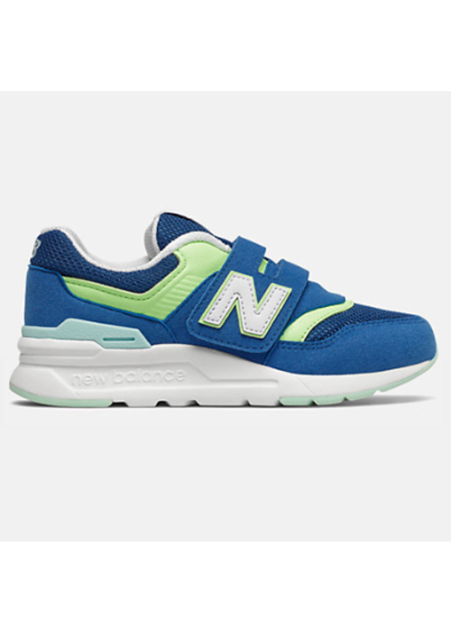 New Balance New Balance Sneaker Captain Blue/Bleached Lime Velcro