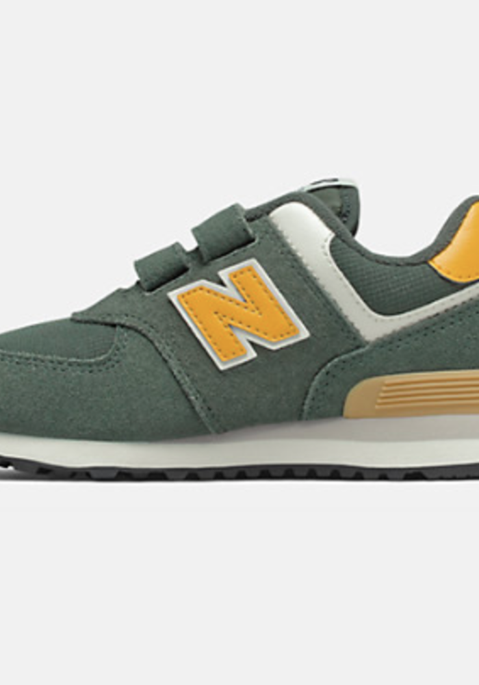 New Balance Sneaker Black Spruce/ Team Gold Velcro