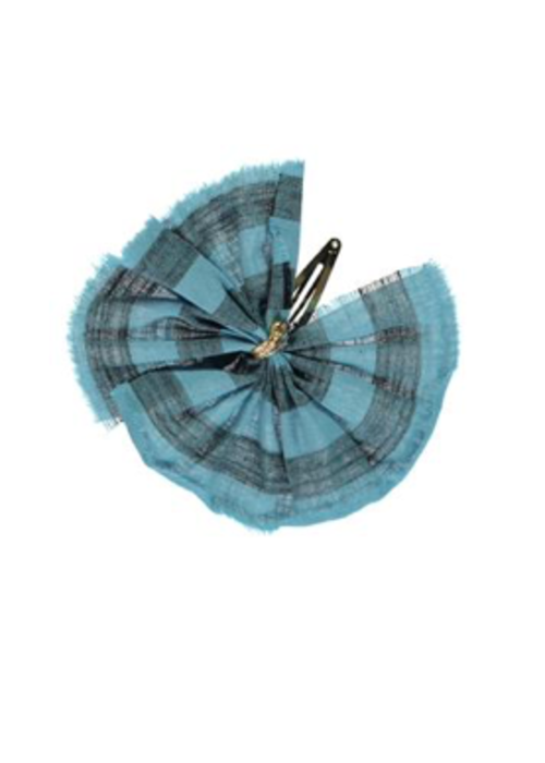 PiuPiuChick PiuPiuChick Hair Clip Blue with Grey stripes
