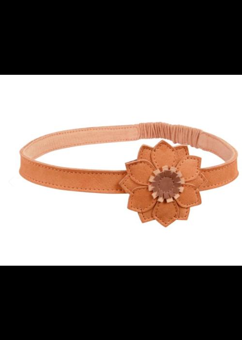 Donsje Donsje Zaza Headband Sunflower Caramel Nubuck