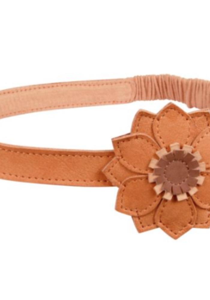 Donsje Zaza Headband Sunflower Caramel Nubuck