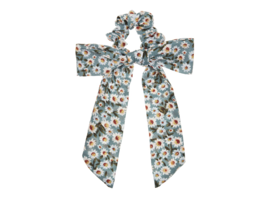Mimi & Lula Floral Scrunchie With Tales Green