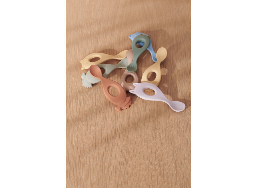 Liewood Liva Silicone Spoon 4-pack Peppermint Multi Mix