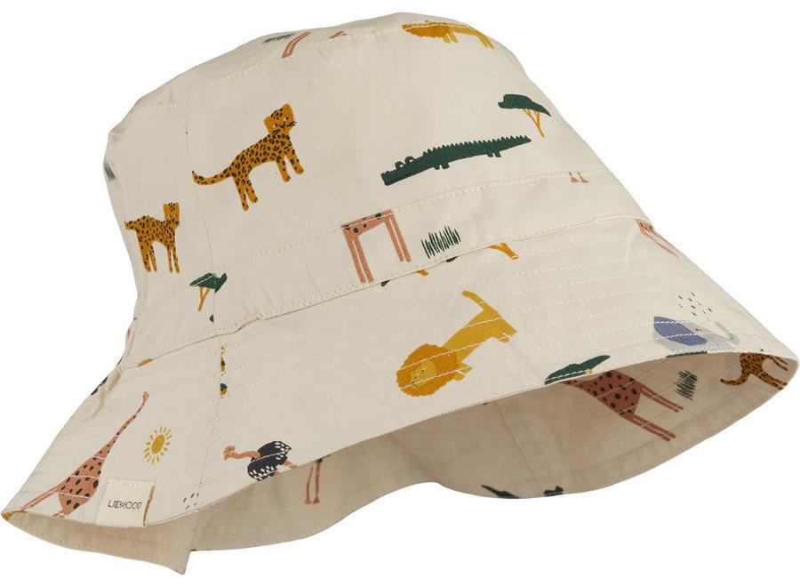 Liewood Sander Bucket Hat Safari Sandy Mix