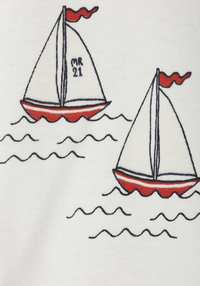 Mini Rodini Sailing Boots aop SS Tee