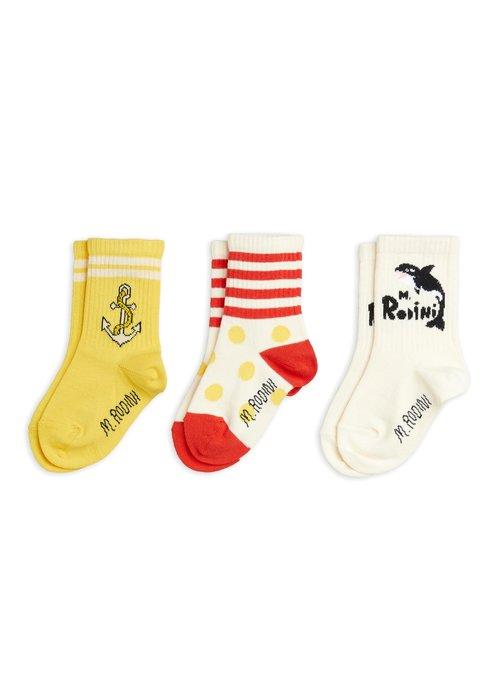 Mini Rodini Mini Rodini Orca 3-pack Socks