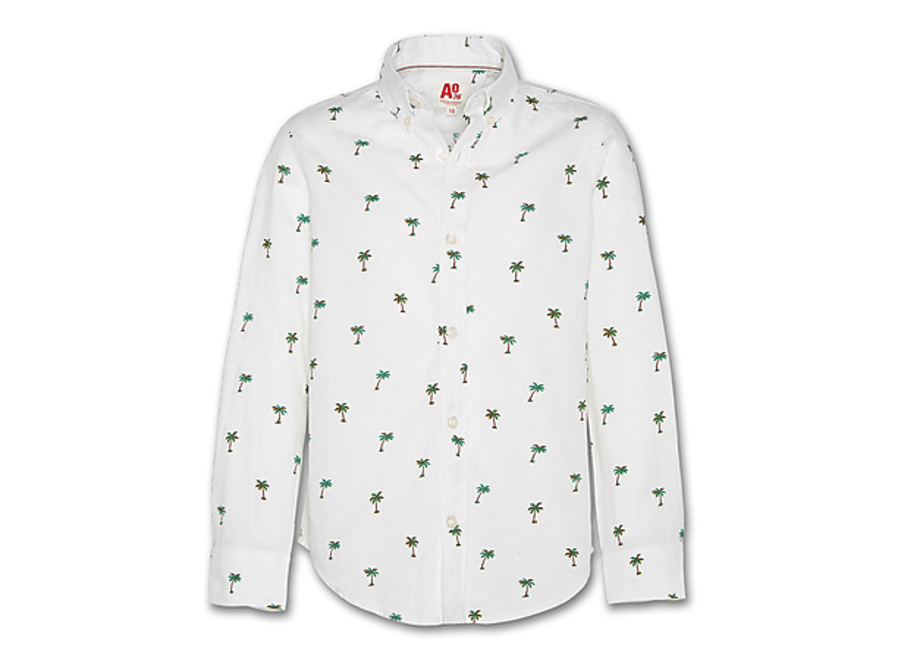 AO76 Button Down Shirt Hawaii White
