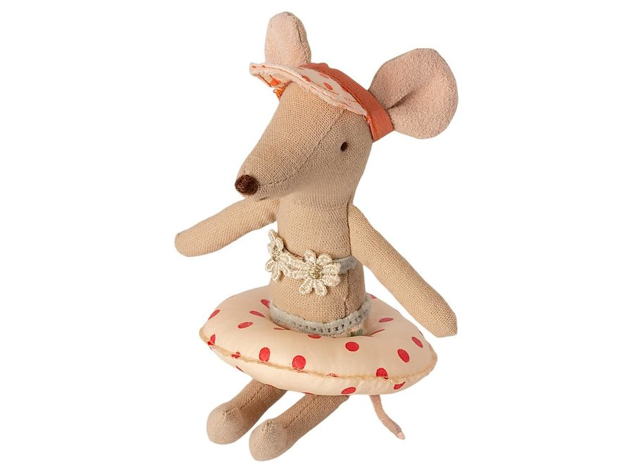 Maileg Float Small mouse Red dot