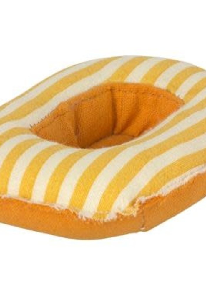 Maileg Maileg Rubber Boat Small mouse Yellow stripe
