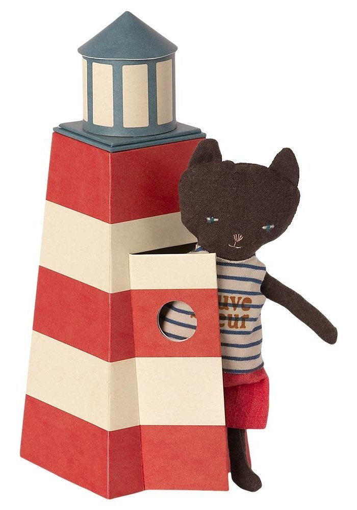 Maileg Sauveteur Tower with cat