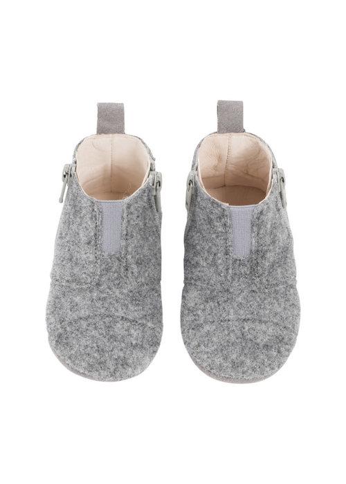 dusq Dusq First Step Shoe Wool Misty Grey