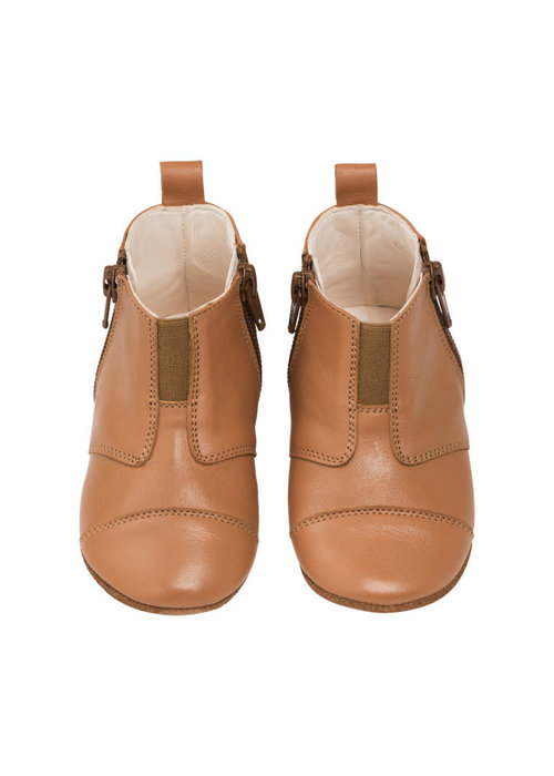 dusq Dusq First Step Shoe Wool Leather Sunset Cognac
