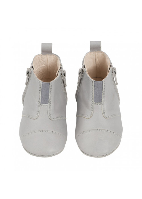 dusq Dusq First Step Shoe Wool Leather Cloud Grey