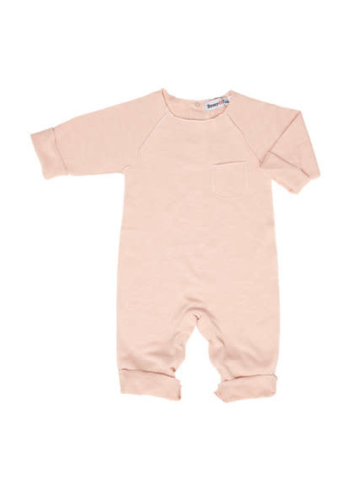 Broer en Zus Broer en Zus Babysuit Pocket Pink