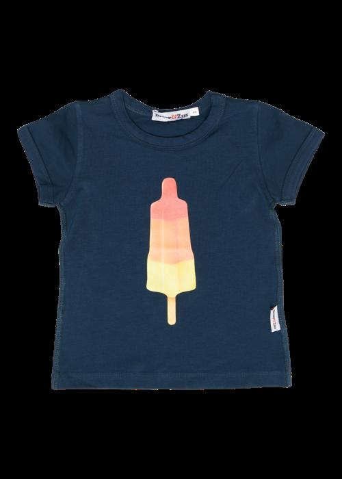 Broer en Zus Broer en Zus T-Shirt Girl Shape Racket Ice Navy
