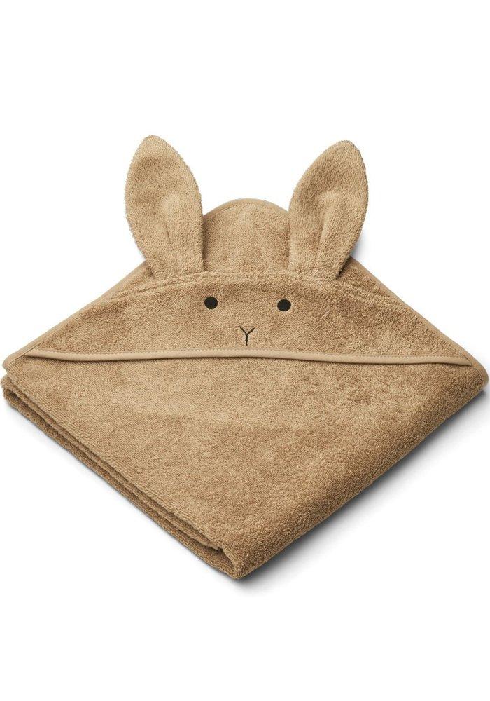 Liewood Augusta Hooded Towel Rabbit - Oat