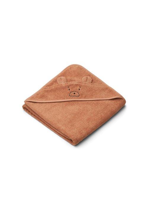 Liewood Liewood Augusta Hooded Towel - Mr Bear Tuscany Rose