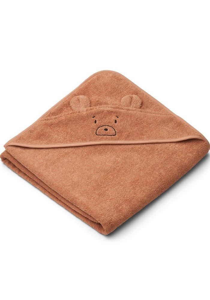 Liewood Augusta Hooded Towel - Mr Bear Tuscany Rose