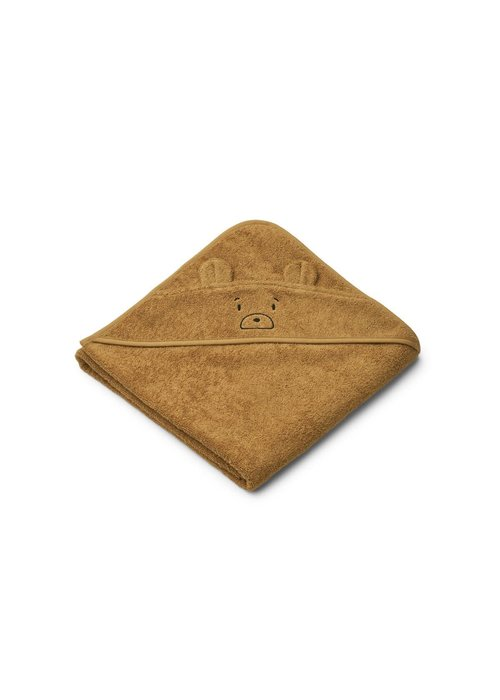 Liewood Liewood Augusta Hooded Towel - Mr Bear Caramel