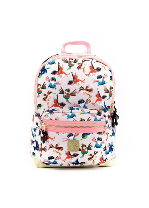 Pick&Pack Birds Backpack Soft Pink M