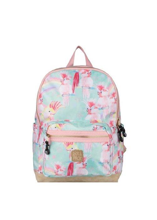 Pick&Pack Unicorn Birds Backpack Soft Green - M