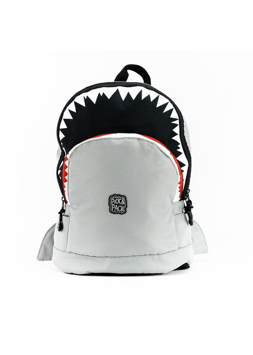 Pick&Pack Shark Shape Backpack Grey - M