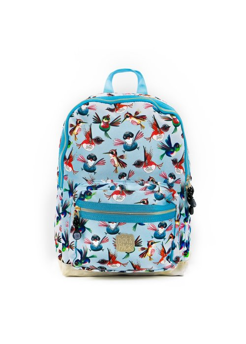 Pick&Pack Birds Backpack Dusty Blue M