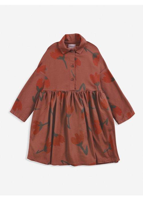 Bobo Choses Bobo Choses Big Flowers woven buttoned dress